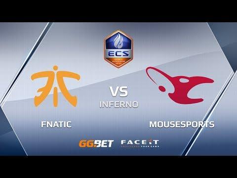 Fnatic vs mousesports, inferno, ECS Season 6 Europe