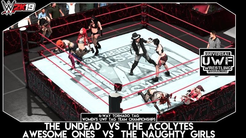 WWE 2K19 | UWF | 4-Way Tornado Tag | Women`s UWF Tag Team Championships Match