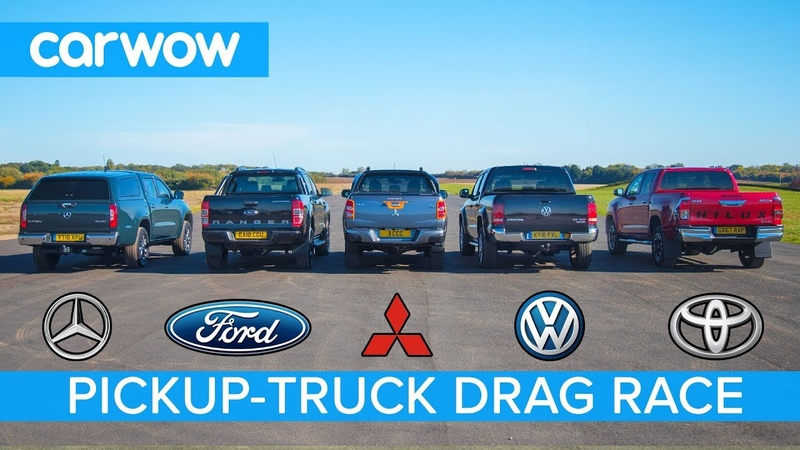 Mercedes X-Class vs VW Amarok vs Hilux vs Ranger vs L200 - DRAG RACE, ROLLING RACE BRAKE TEST