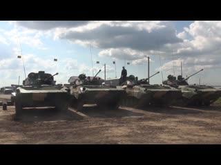 Подготовка техники к всеармейскому этапу конкурсов «Танковый биатлон» и «Суворовский натиск» АрМИ-2019
