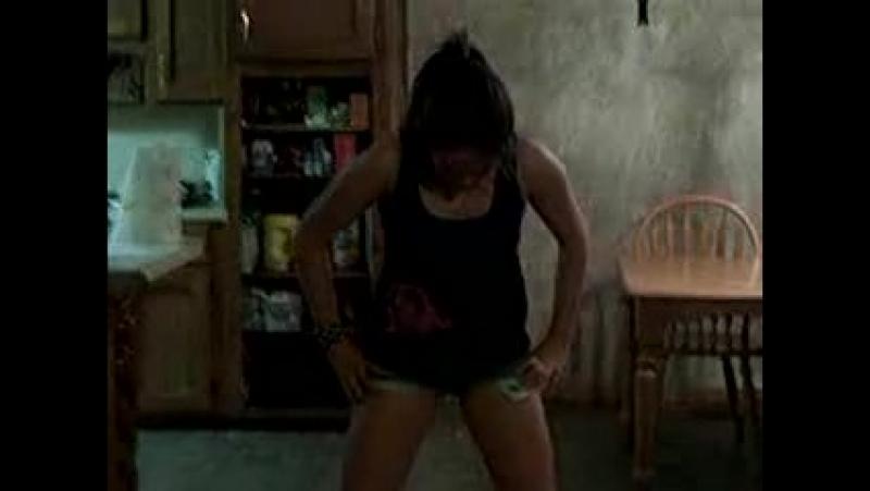 Girl pees jean shorts