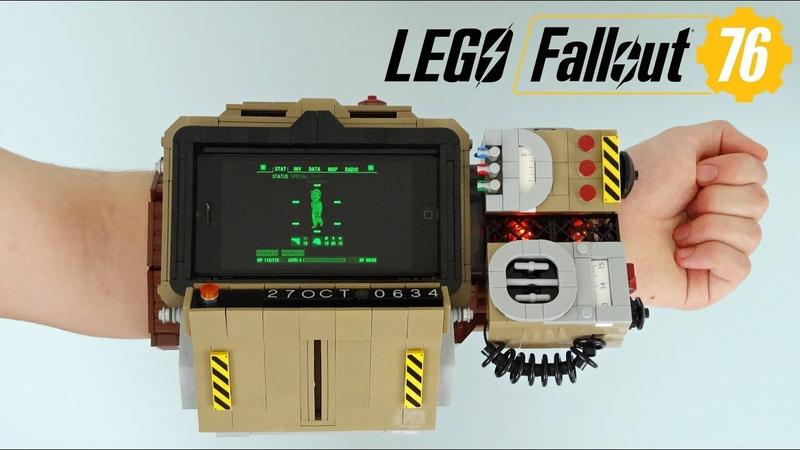 Lego Fallout 76 Pip-Boy 2000 MK VI (Working lights screen!)