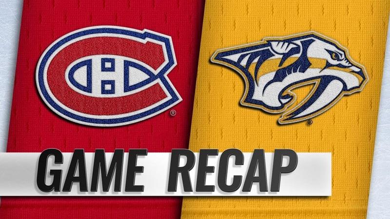 Boyle Rinne propel Predators past Canadiens 3 1