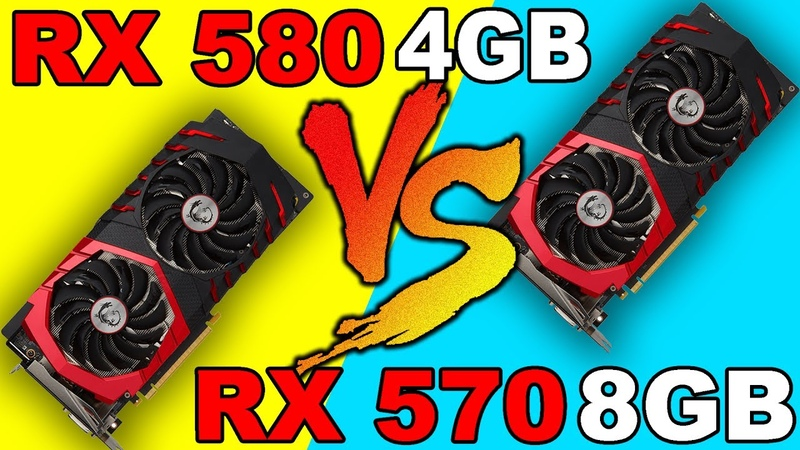 RX 580 4GB VS RX 570 8GB | DX12 AND DX11 | Comparison