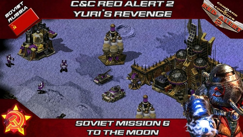 CC RED ALERT 2 Yuri's Revenge - Soviet Mission 6 TO THE MOON