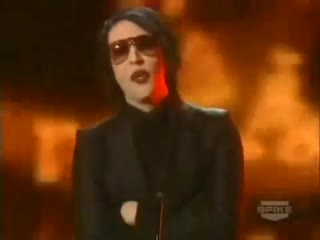 Marilyn Manson Presents Ozzy Osbourne With Award (2006)