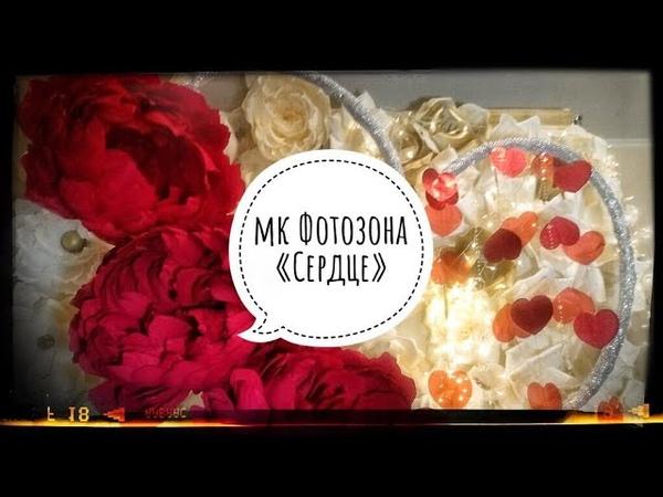 Фотозона своими руками ФотозонаСЕРДЦЕДень Святого ВалентинаBackdrop DIY