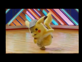 DetectivePikachu dances as fast as the music goes