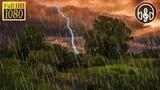 Сильный Шум Дождя и Раскаты Грома. 10 Часов Релаксации и Снятия Стресса