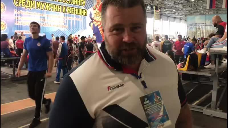 Андрей Шарков о начале соревнований по армрестлингу во Осетии