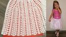 АЖУРНАЯ ЛЕТНЯЯ ЮБКА крючком НА ДЕВОЧКУ для женщин тоже СХЕМА вязания крючком юбки ДЛЯ НАЧИНАЮЩИХ