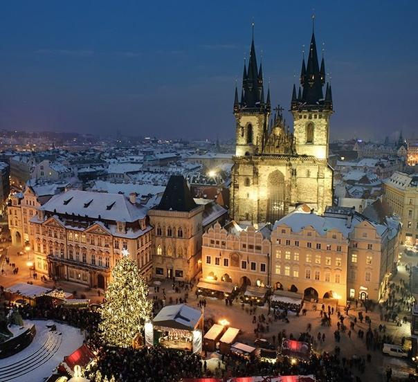 ✨Католическое Рождество и Новый Год в Чехии: авиабилеты в Прагу от 9400 рублей туда-обратно из Москвы