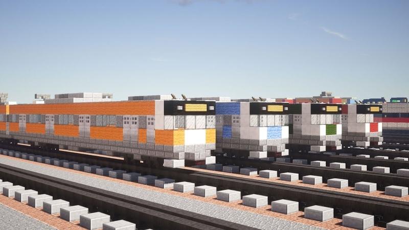 Minecraft E233系 Series Train 電車 Tutorial
