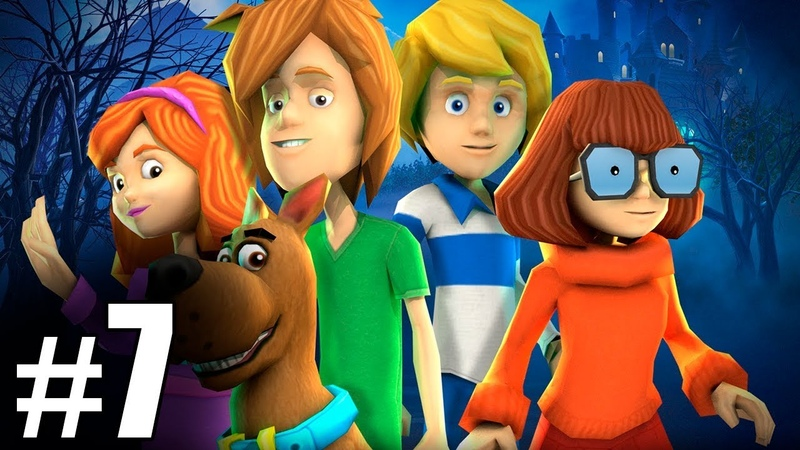 7 Обзор и летсплей по игре Скуби Ду Зловещий замок Letsplay game Scooby Doo First Frights