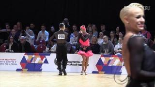 Oleg Chzhen - Alina Ageeva, Samba 1/4 | 2019 FDSARR Championship Amateur Latin