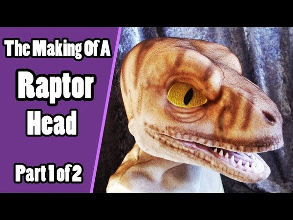 The Making Of 17 Raptor Fursuit Head - Part 1 Fursuit Tutorial