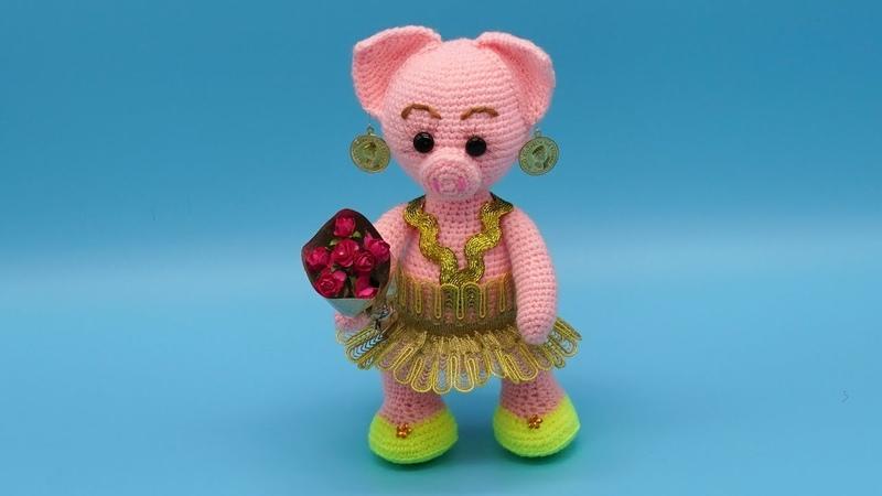 Поросенок амигуруми Вязание поросенка крючком Свинка крючком Часть 3 crochet piggy P 3