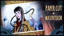Gold Paper Cut Watercolor • Mixed Media is Fun