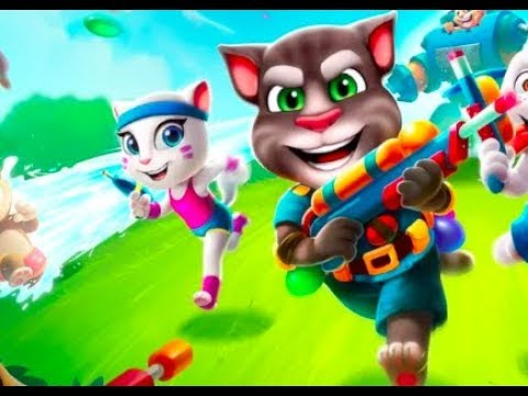 TalkingTom camp BEST WATER FIGHT