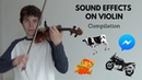 Sound Effects on Violin   Compilation