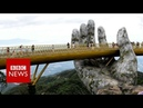 Vietnam bridge: Walking through a god's hands