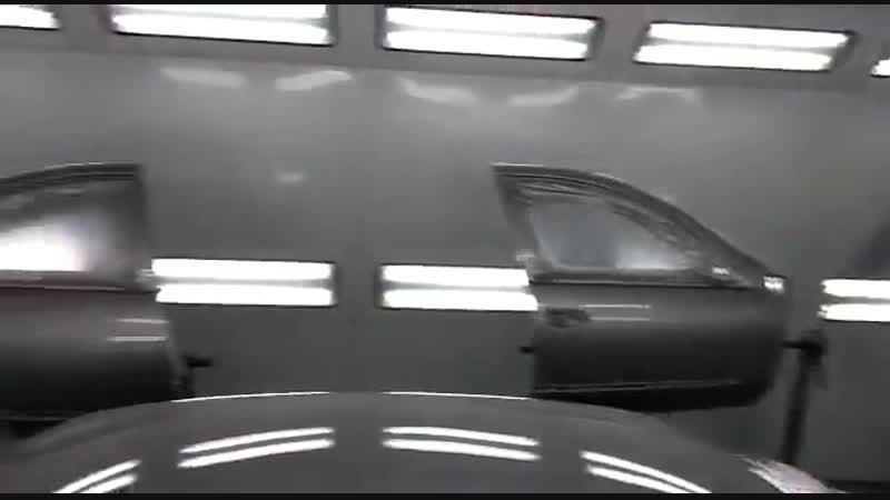 Nissan Almera в покрасочной камере