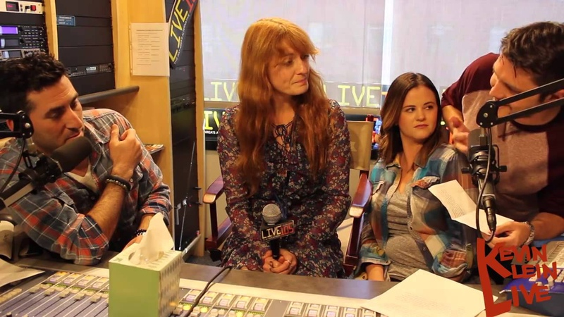 Florence Welch at Kevin Klein Live 105 - 'Florence cry in 2 minutes'