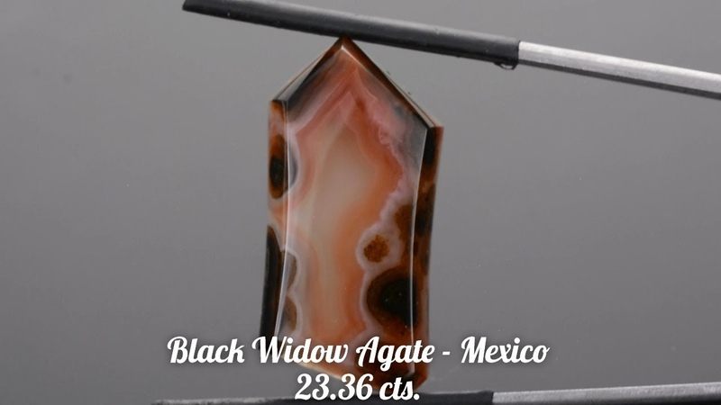 Unique Custom Mexican Black Widow Agate Cabochon from KGC