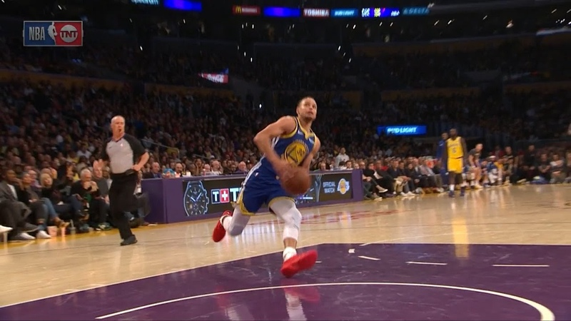 Stephen Curry Slips on a Dunk Attempt - Shaqtin A Fool - Warriors vs Lakers | Jan 21, 2019
