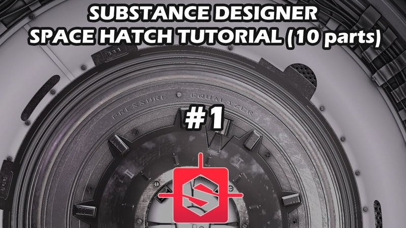 [Substance Designer] Space Hatch tutorial (part 1): main ring, shock absorbers, cables and tape