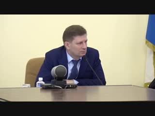 Хабаровск. губернатор фургал решает вопрос по питанию детей в школах.
