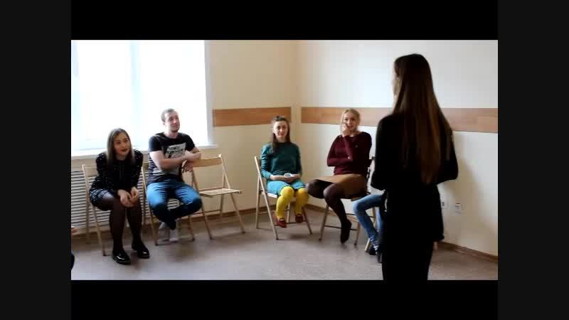 Атмосфера прошедшего открытого тренинга курса Спектакль-вербатим