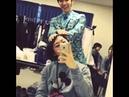[Instagram] 131027 Donghae Heechul Kangin styling Gunhee's hair
