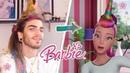 Guy tries to follow a Barbie Vlogs unicorn hair tutorial