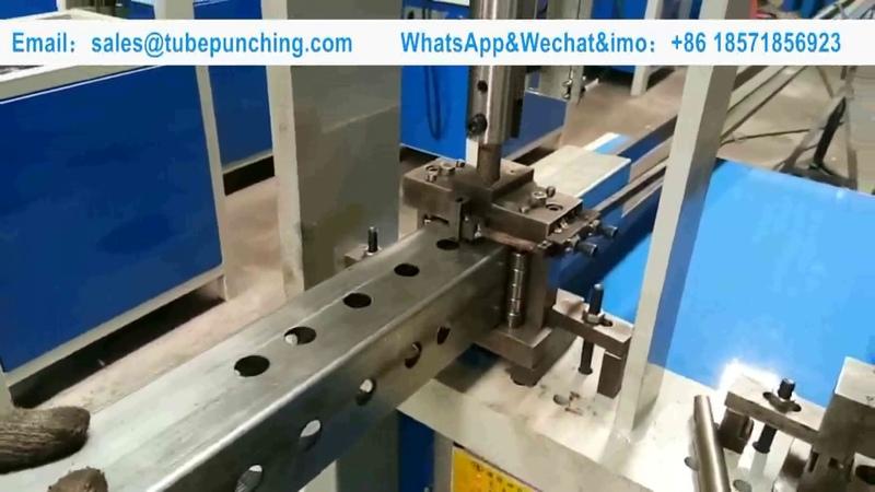 Punching Round Hole On Square Tube/ Semi-auto Hydraulic Pipe Punching Machine