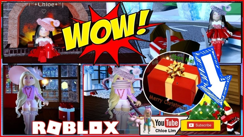 🎅🏻 Roblox Royale High Gameplay! I MET SANTA and GOT LOTS OF PRESENTS! Loud Warning!