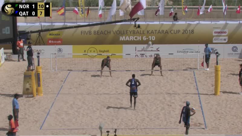 KATARA Beach Volleyball Cup 2018 Mol Sørum C NOR 19 Cherif Ahmed Tijan QAT 8