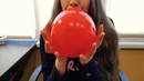 ASMR Blowing balloon slowly deflating brushing and popping with a pencil