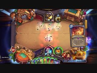 Hearthstone- Rastakhans Rumble -- Blast Wave spell in action