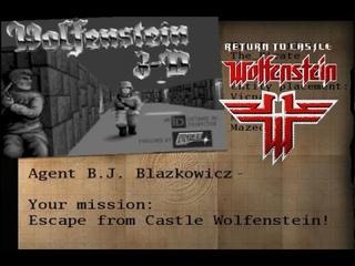 Return to Castle Wolfenstein (PC) - Wolfenstein 3D - E1M1 custom map - Gameplay + Download