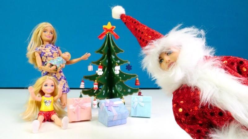 El Año Nuevo en la casa de Barbie muñecas. Vídeos para niñas.