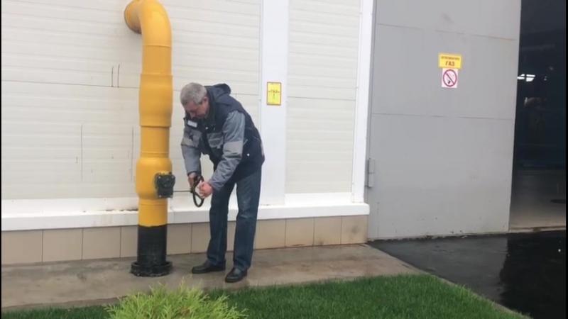 Пуск газа на Западной котельной
