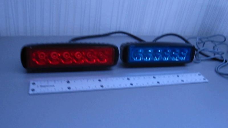 Полицейский спец.сигнал - стробоскоп.2218 красно-синий gv-auto.com.ua