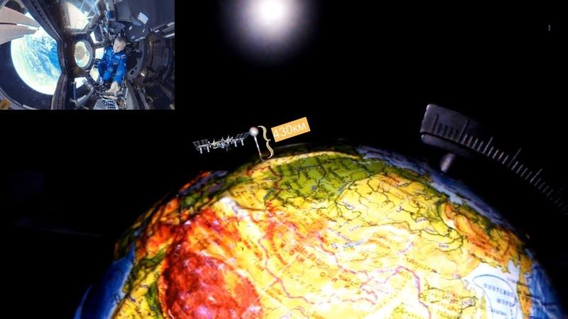 МКС не может заснять Землю целиком. Земля Плоская.