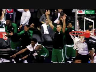 Kyrie Irving's back to back threes that helped the Celtics get the win in OT