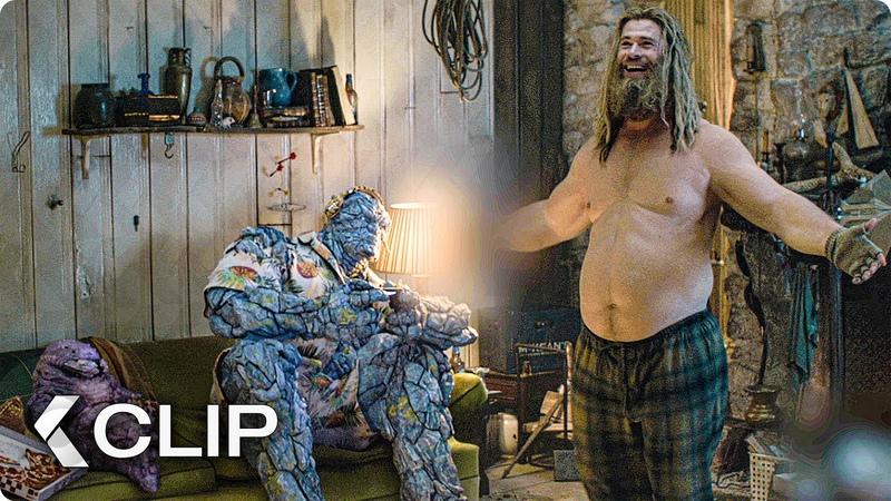 Bro Thor and Gang Playing Fortnite Scene AVENGERS 4 Endgame 2019