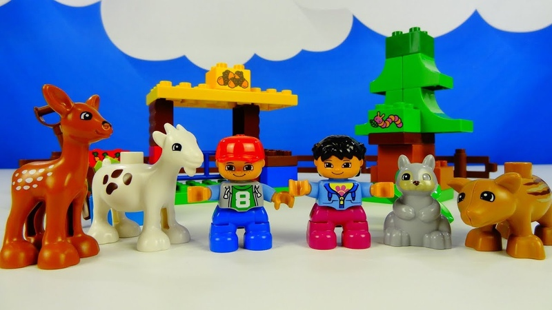 Строим из Lego Duplo, Lego Duplo 10582 Forest animals - Лего Дупло 10582 Лесные животные