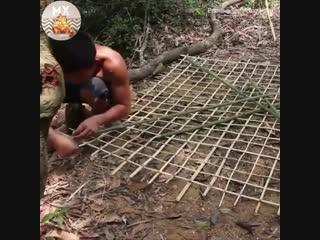 Сеть из бамбука для рыбалки - vk.com/tricks_lf