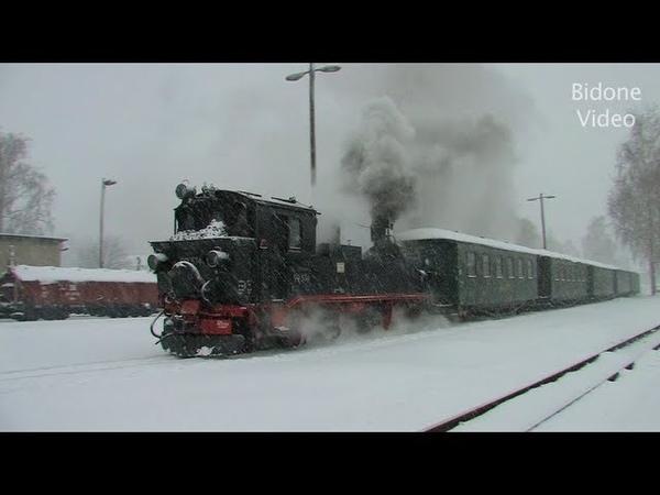 Dampf-Züge in Schnee und Eis - Steam Trains in the snow - Dampflok