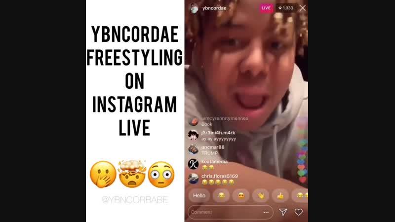 YBN Cordae IG Live freestyle again